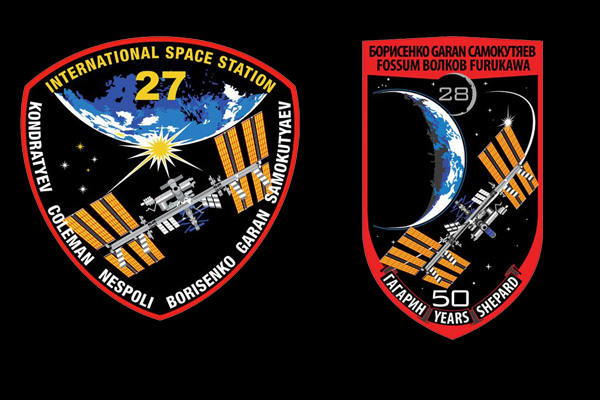 Expedition 27 and Expedition 28 mission patches