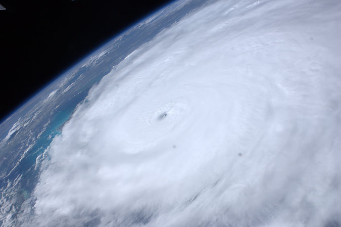 Hurricane Irene at peak intensity