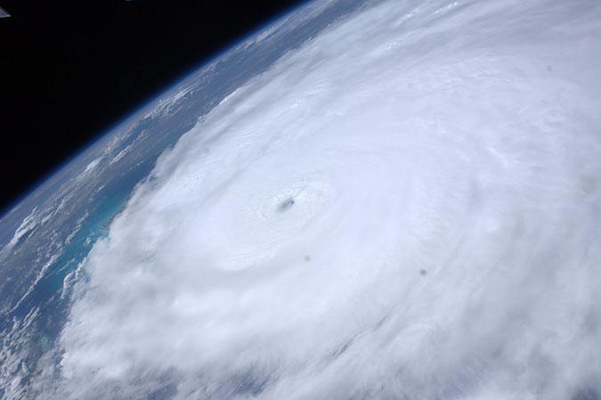 Hurricane Irene at peak intensity